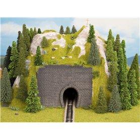 Noch 44790 Tunnelportal, 1-spårs, mått 9 x 7 cm, 2 st, passar för luftledning