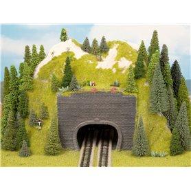 Noch 44800 Tunnelportal, 2-spårs, mått 9 x 7 cm, 2 st, passar för luftledning