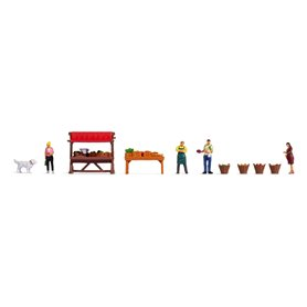 """Noch 16225 Themed Figures Set """"Vegetable Stall"""""""