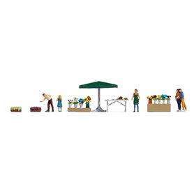 "Noch 16227 Themed Figures Set ""Flower Stall"""