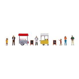 """Noch 16229 Themed Figures Set """"Ice Cream & Hotdog Van"""""""