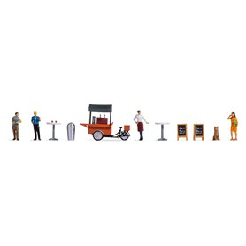 """Noch 16230 Themed Figures Set """"Coffee Stall"""""""