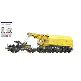 Slewing railway crane of the Deutsche Bundesbahn