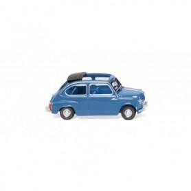 Wiking 09906 Fiat 600 - brilliant blue Maßstab