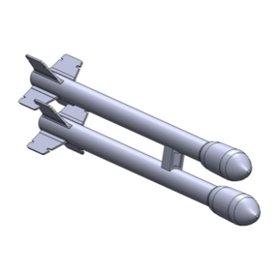 Maestro Models K4929 15 cm raket m/51 för Lansen 12 par. 3D print
