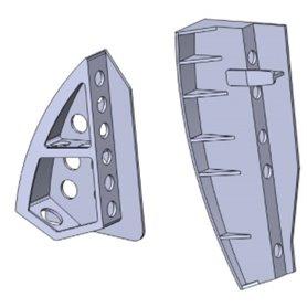 Maestro Models K4938 SAAB 32 Lansen luftbromsar 3D print