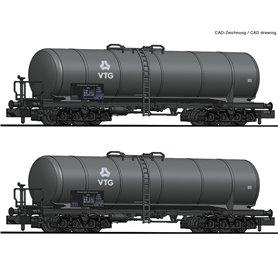 Fleischmann 825810 2 piece set tank wagons, VTG