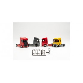 Herpa 054232 Accessories lowbar and sidebar for tractors with chassis panelling, chromium (f. 6 tractors) - (content 3 pieces)