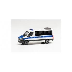 """Herpa 096584 Mercedes-Benz Sprinter '18 bus flat roof """"Polizei Berlin"""""""