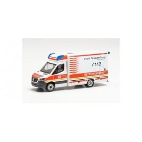"""Herpa 096591 Mercedes-Benz Sprinter '18 Fahrtec ambulance """"Rescue service Brandenburg"""""""