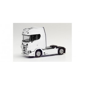 Herpa 310116-004 Scania CS20 high roof Trailer with light bar and bumper, white