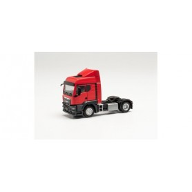 Herpa 314572 MAN TGS TM tractor with wind deflectors, traffic red