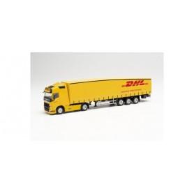 """Herpa 314626 Volvo FH Gl. 2020 Schmitz Ecoflex trailer truck """"DHL"""""""