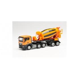 Herpa 314640 MAN TGS TN concret mixer trailer truck, municipal orange