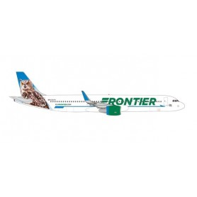 """Herpa Wings 535830 Flygplan Frontier Airlines Airbus A321 – N701FR """"Otto the Owl"""""""