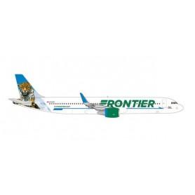"""Herpa Wings 535847 Flygplan Frontier Airlines Airbus A321 - N712FR """"Spot the Jaguar"""""""