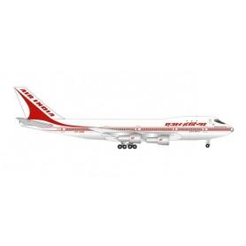 "Herpa Wings 535892 Flygplan Air India Boeing 747-200 - 50 Years of 747 Introduction - VT-EBE ""Emperor Shahjehan"""