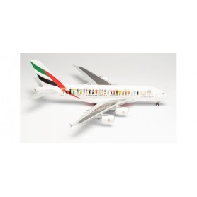 """Herpa Wings 571692 Flygplan Emirates Airbus A380 """"Year of Tolerance"""" – A6-EVB"""