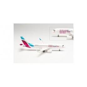 """Herpa Wings 571838 Flygplan Eurowings Airbus A320 """"Teamflieger"""" - D-AIZS"""