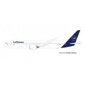 """Herpa Wings 613453 Flygplan Lufthansa Boeing 787-9 Dreamliner – D-ABPA """"Berlin"""""""