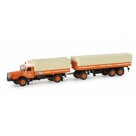 "Herpa 153690 Buessing 8000 curtain canvas semitrailer ""TCH"""