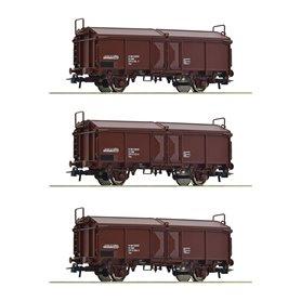 Roco 66178 Set of three sliding roof wagons, ÖBB
