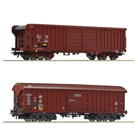 Roco 76020 2 piece set goods wagons, DB/SBB