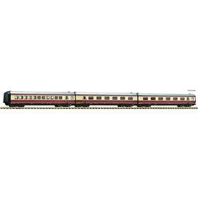"""Fleischmann 741006 3 piece set: Additional coaches matching the """"Alpen-See-Express"""", DB"""