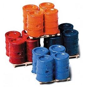 Model Railstuff 560 Tunnor 55 gallons på pallar, 4 uppsättningar