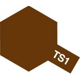 """Tamiya 85001 Sprayfärg TS-1 """"Red Brown"""" matt, innehåller 100 ml"""
