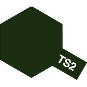 """Tamiya 85002 Sprayfärg TS-2 """"Dark Green"""" matt, innehåller 100 ml"""