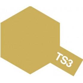 """Tamiya 85003 Sprayfärg TS-3 """"Dark Yellow"""" matt, innehåller 100 ml"""