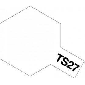 """Tamiya 85027 Sprayfärg TS-27 """"Matt White"""" matt, innehåller 100 ml"""