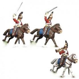 Prince August 543A Napoleon 6:e regementet, dragoner, 25 mm höga
