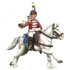 Prince August 546C Napoleon, officerarhäst för Prince August form nummer 546A, 25 mm hög