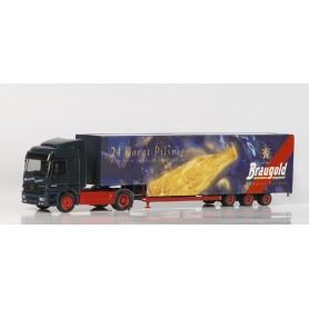 "Herpa 148207 MB Actros L jumbo box semitrailer ""Braugold"""