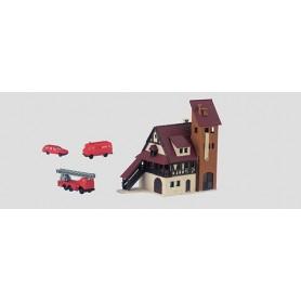 Märklin 89800 Brandstation med utrycknignsfordon, epok III-V