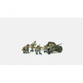 Preiser 16591 Figurer 3,7 cm PAK L/45 med 5 st omålade figurer