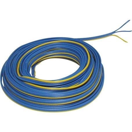 Beli-Beco L318/50M Kabel, 3-delad, blå/gul/blå, 50 meter, 3 x 0.14 mm²