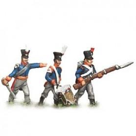 Prince August 536 Napoleon Nederländerna, 36:e jägareregementet, 25 mm höga