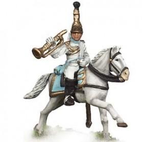 Prince August 548C Napoleon Frankrike, häst till Prince August form nummer 548A, 25 mm höga
