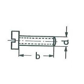 Märklin 750040 Cylinderskruv M2x2,8 mm, skalle 3,5 mm, svart