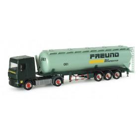 "Herpa 154369 DAF XF 105 SC silo semitrailer 60m³ ""Freund"""