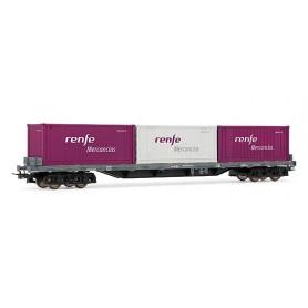 Electrotren 5182 Flakvagn RENFE typ RS med last av 3 containrar