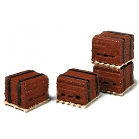 Model Railstuff 520 Bandade pallar, 4 st