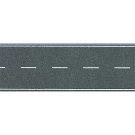 Faller 170630 Vägfolie, flexibel, 2-fil, självhäftande med markeringar, mått 1000 x 80 mm