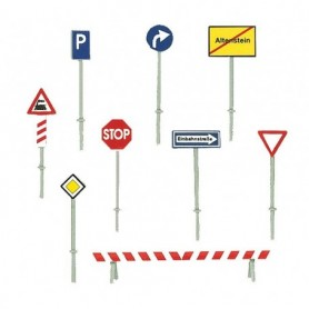 Faller 272450 Set med trafikskyltar, Europeiska 1977-1985