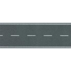 Faller 272458 Vägfolie, flexibel, 2-fil, självhäftande med markeringar, mått 1000 x 40 mm