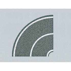 Faller 272459 Vägfolie, kurva 90°, 4 st, 2-fil, flexibel, självhäftande med markeringar