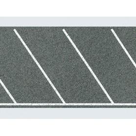 Faller 170634 Vägfolie, flexibel, parkeringsplatser diagonala, självhäftande, mått 1000 x 60 mm